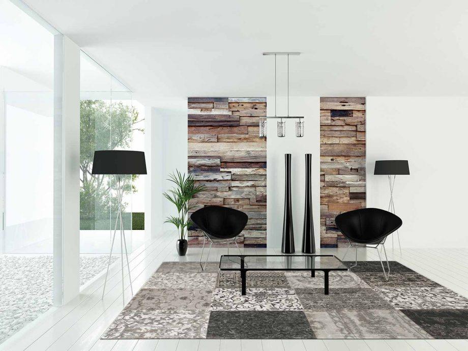 tapis Louis De Poortere CA 8101 Vintage Black White interior 2