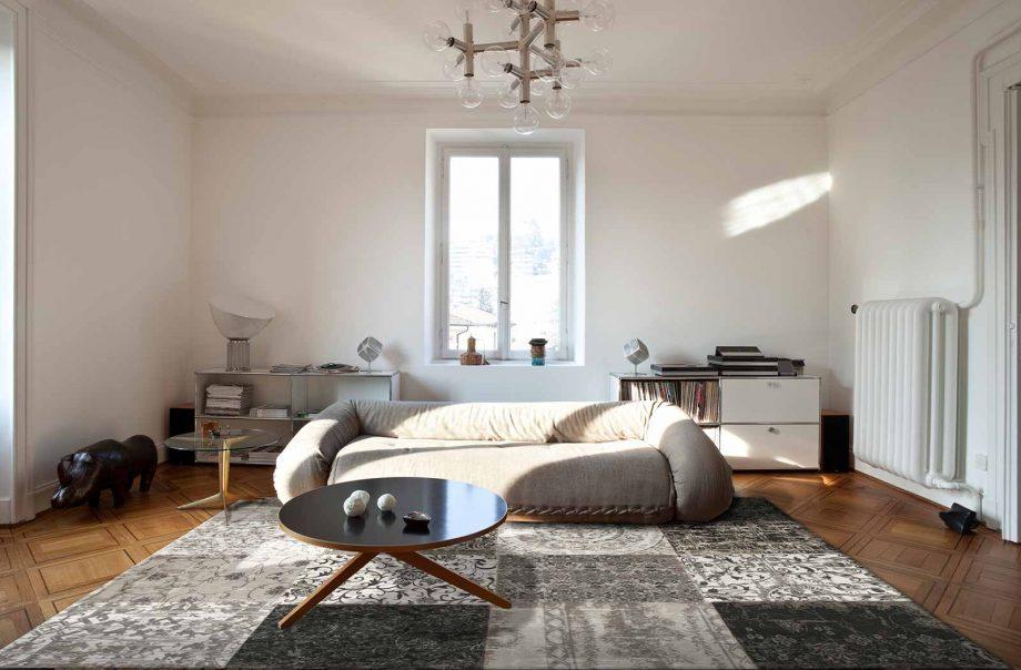 tapis Louis De Poortere CA 8101 Vintage Black White interior