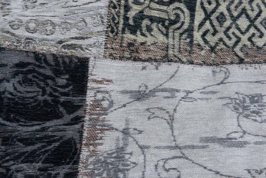 tapis Louis De Poortere CA 8101 Vintage Black White zoom 2