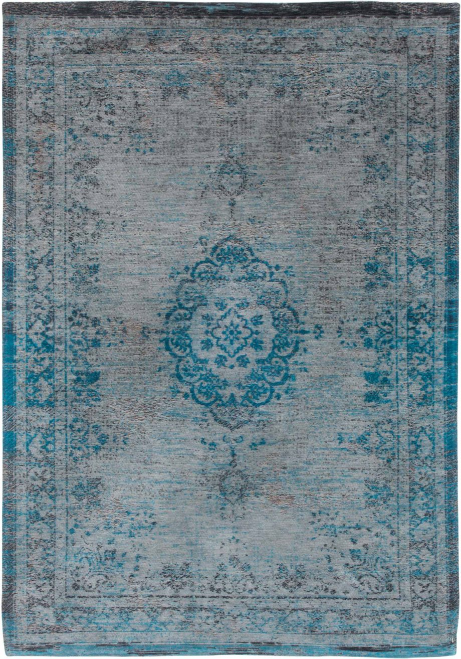 tapis Louis De Poortere CA 8255 Fading World Medaillon Grey Turquoise