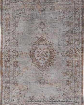 tapis Louis De Poortere CA 8257 Fading World Medaillon Grey Ebony