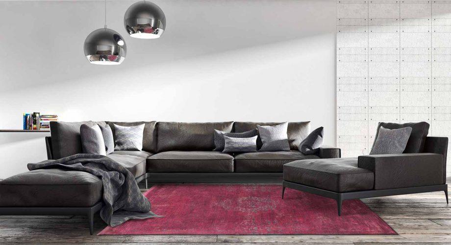 tapis Louis De Poortere CA 8260 Fading World Medaillon Scarlet interior