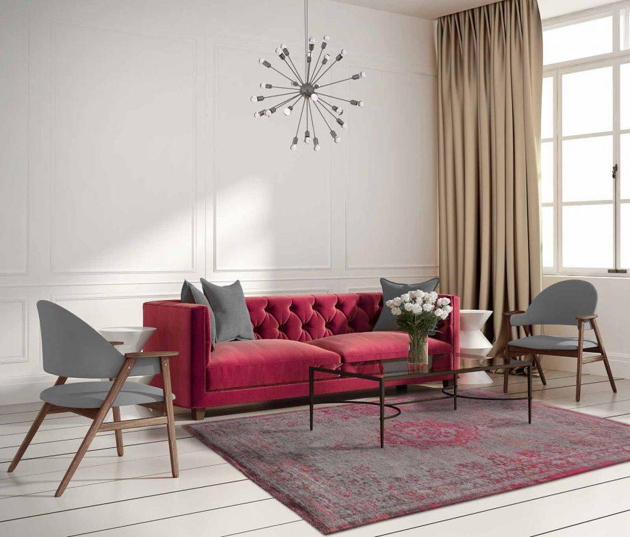 tapis Louis De Poortere CA 8261 Fading World Medaillon Pink Flash interior 2