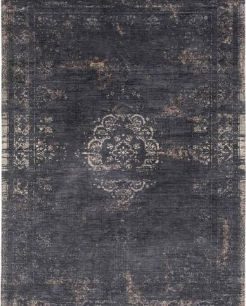 tapis Louis De Poortere CA 8263 Fading World Medaillon Mineral Black