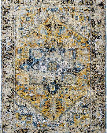 tapis Louis De Poortere CA 8704 Antiquarian Antique Heriz Amir Gold