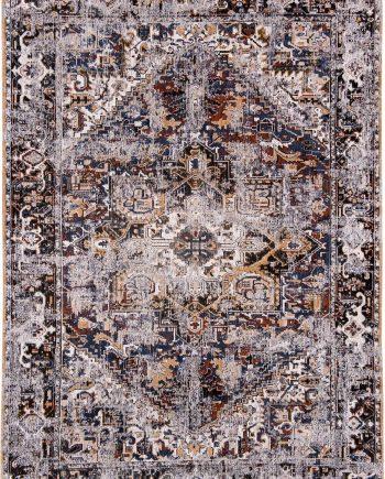 tapis Louis De Poortere CA 8707 Antiquarian Antique Heriz Divan Blue
