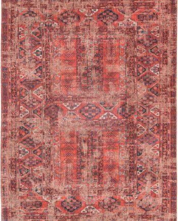 tapis Louis De Poortere CA 8719 Antiquarian Antique Hadschlu 782 Red